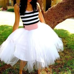 I NEED this! Think I will try to make one! Striped Tutu Party Dress. $198.00, via Etsy.
