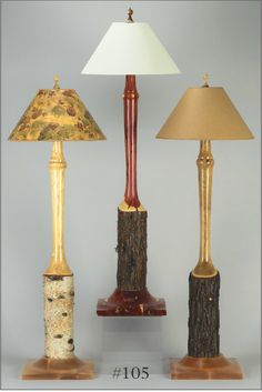 woodturned lamps   Priced at $600.00