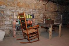 The cellar of the Lucius Read House where runaway slaves were hidden on the Underground Railroad