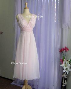 Beautiful pink wedding dress. www.etsy.com/listing/83085975/sample-sale-vintage-inspired-tea-length