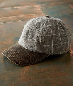 bc6a16a4070 Men s Woodland Cap - With its softly brushed plaid panels and cracked