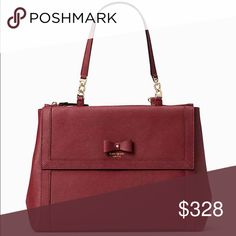 "🆕kate spade ♠️ hazel court mason NWT COLOR - Merlot DESCRIPTION the handbag: it's your constant companion, your security blanket, your way-more-than-an-accessory accessory. SIZE 11''h x 14''w x 6''d drop length: 8"" MATERIAL crosshatched leather with smooth leather trim capital kate jacquard lining 14-karat light gold plated hardware DETAILS shoulder bag with snap closure dual zipper pockets interior zipper and dual slide pockets exterior flap pocket kate spade Bags Shoulder Bags"