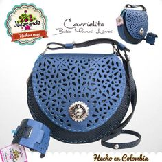 CARRIELITO: bolso manos libres Jacaranda, en cuero, hecho a mano. #bags #handbags