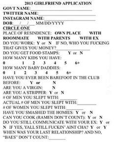 2013 Girlfriend Application lol