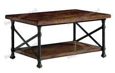 Stile country americano loft in ferro battuto fare il vecchio mobili in legno soggiorno antico tavolino idee tavolino vintage