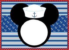 La Super Mamy: Semana de cumples: Mickey Mouse Bebé Baby Mickey Mouse, Mickey Head, Mickey Mouse Birthday, Nautical Mickey, Nautical Party, Mickey Mouse Marinero, Mickey Clubhouse, Disney Theme, Disney Cruise