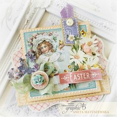 Mix & Match Easter Card with Video Tutorial With Easter just hopping around the corner we thought it would be a great time to share a Mix and Match Easter Card with YouTube video tutorial. This how-to video is from our Brand Ambassador, Aneta Matuszewska. Aneta uses our Café Parisian and Secret Garden- Deluxe Collector's Edition to bring this card to life.