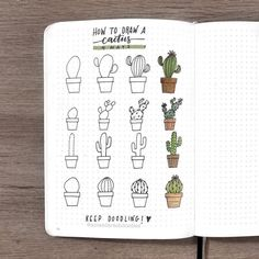 31 Simple Doodles You Can Easily Copy in Your Bullet Journal - Simple Life of a Lady Bullet journal designs seem too complicated for you? Worry not. These doodles are very easy to draw. You'll have a nice and chic design in no time! Bullet Journal 2019, Bullet Journal Ideas Pages, Bullet Journal Spread, Bullet Journal Inspiration, Bullet Journal Decoration, Journal Design, Journal Layout, Scrapbook Journal, Cactus Doodle