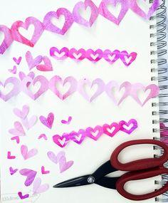 Easy Hand-cut Heart Garland