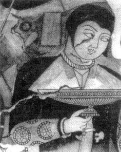 Man from Balalyk-tepe - Xionites - Wikipedia Edinburgh University, Sassanid, Roman History, Animal Totems, Central Asia, Historian, African, Artwork, Faces