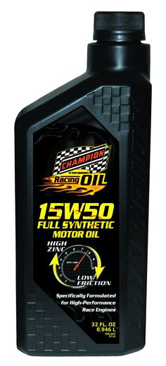 Champion Brands Motor Oil Synthetic Racing 15W-50, 1 Quart Each