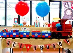 Train themed birthday party via Karas Party Ideas KarasPartyIdeas.com