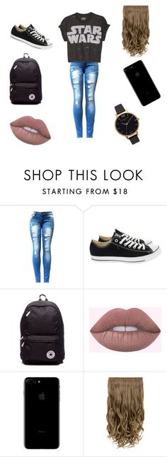 """School Day"" by kyndahl-fortun on Polyvore featuring Converse, Olivia Burton and schoolday"