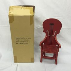 """Department 56 Christmas Krinkles Patience Brewster 12 1/2"""" Cello Chair 56.31332"""