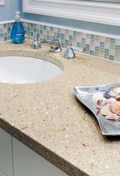 FuezStone Beach Vanity - modern - bathroom - boston - CounterEdge
