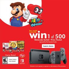 Want to win a Nintendo Switch? Click through to see how you can win 1 of 500 from Post Cereals! I know we will be entering - my girls would LOVE a Nintendo Switch! #PrizesWithPost #CerealAnytime #ad http://parentpalace.com/2017/10/nintendoswitch/