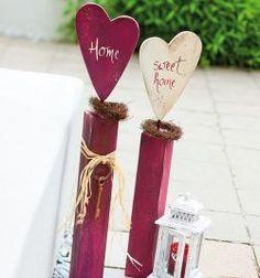 Holzpfosten dekorativ verziert