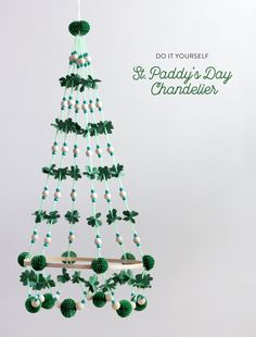 St. Paddy's Day Chandelier — The Apple of My DIY