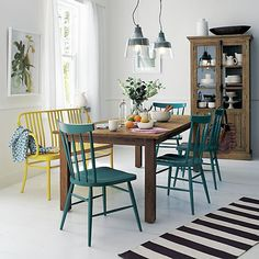 Willa Peacock Side Chair in Dining Chairs | Crate and Barrel Okay I want all this instead!!!