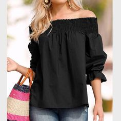 Celmia Off Shoulder Tops Blusa Feminina 2018 Summer Women Blouse Sexy Slash Neck Bow Sleeve Casual Plus Size Shirts Femme Summer Fashion Outfits, Spring Outfits, Casual Outfits, Plus Size Shirts, Plus Size Blouses, Bow Blouse, Spring Tops, Spring Summer, Off Shoulder Tops