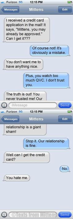 NEW daily Texts from Mittens: The Credit Card Edition
