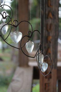 Witch Garden:  Crystal heart #windchimes.