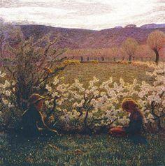 Giuseppe Pellizza da Volpedo (1868-1907). Italian painter. Field+in+Bloom
