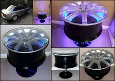 wheel rim tables | Thread: Bent Alloy Wheel recycling.....anyone for a coffee table?