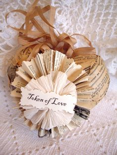 paper heart craft And this would make beautiful Christmas tags.