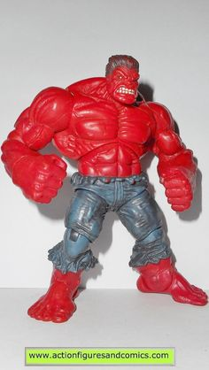 Hasbro toys action figures for sale to buy MARVEL UNIVERSE 2009 series 1 #028 - RED HULK 'Rulk' 100% COMPLETE condition: Overall excellent. nice paint, nice joints, nothing broken, damaged, or missing