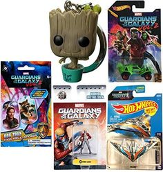 Marvel Guardians of the Galaxy Starlord Hot Wheels Cars Movie Vol. 2 Exclusive + Metal Mini Figure & Ship Milano #149 & Pocket Pop! Bobble Head Keychain Collectible + Dog Tag + Sticker Blind Bag. #Marvel #Guardians #Galaxy #Starlord #Wheels #Cars #Movie #Vol. #Exclusive #Metal #Mini #Figure #Ship #Milano #Pocket #Pop! #Bobble #Head #Keychain #Collectible #Sticker #Blind