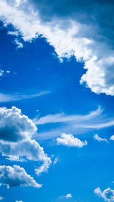 Blue clouds  #iPhone 5s #Wallpaper | http://www.ilikewallpaper.net/iphone-5-wallpaper/, just keep it as your iPhone wallpaper warehouse.