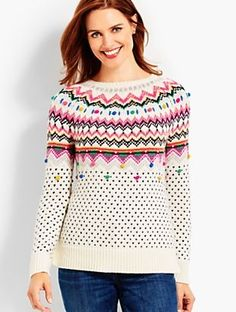 Carnival Fair Isle Sweater | Talbots