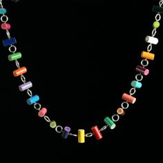 Colored Pencil Necklace. I've always had big love for colored pencils.  I'm going to make this!
