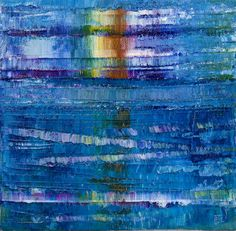 Force Four & Sunlight - rainbow blue sea colours reflections painting sunlight sailing force four box canvas