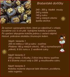 Dortíčky Christmas Candy, Christmas Baking, Christmas Cookies, Baking Recipes, Sweet Recipes, Ale, Biscuits, Cereal, Diy And Crafts
