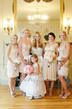 Platinum Wedding of the Year 2015 in Toffee Style 904 - From the Fairytale Flower Girl Dress Collection in Silk and Tulle and Swarovski Crystals by Pegeen.com