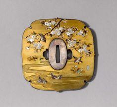 FEINES SHIBAYAMA-TSUBA. Japan, 19. Jh. H 11 cm.