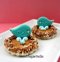 spring bird nest cookies