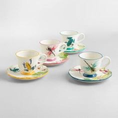 'Fiji' Collection - Teacups and Saucers, s/4 | World Market