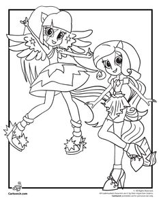 Coloring My Little Pony Equestria Girls Rainbow Rocks