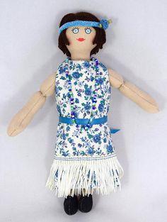 Flapper Girl Doll  1920s  OOAK Doll  Art Doll  Toy