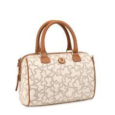 Sand-black color TOUS Kaos New Total collection handbag