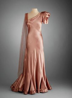 Evening dress, Robert Piguet, Circa 1933-7
