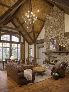 Living Room Log Cabin Kitchens Design, Pictures, Remodel, Decor and Ideas - page 5