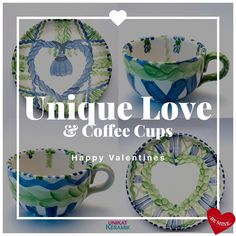 Coffee Cups, Valentines, Unique, Happy, Velentine Day, Valentine's Day Diy, Coffee Mugs, Valentine's Day, Valentine Craft