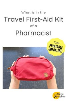 Travel First Aid Kit: the ultimate checklist. As a pharmacist and traveller, I'm… Travel First Aid Kit: the ultimate checklist. As a pharmacist and traveller, I'm here to share what's in my DIY travel first aid kit (and why). First Aid Kit Checklist, Diy First Aid Kit, Camping First Aid Kit, Emergency Preparation, Emergency Preparedness, Emergency Kits, Travel Packing, Travel Tips, Travel Advice