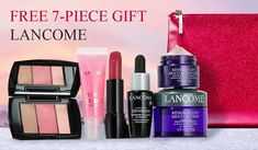 Build your 7-pc Lancome gift direct from Lancome with any $45 purchase. Spend more and receive up to a 12-pc gift. Lancome Gift Set, Lancome Gift With Purchase, Cosmetics, How To Make, Gifts, Presents, Favors, Drugstore Makeup, Gift