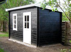 Billedresultat for redskabsskur Backyard Sheds, She Sheds, Shed Design, Play Houses, Tiny House, Pergola, New Homes, Home And Garden, Outdoor Structures