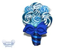 Royal Blue Lollipop Bouquet Navy Cany Bouquet by EdibleWeddings, $39.99